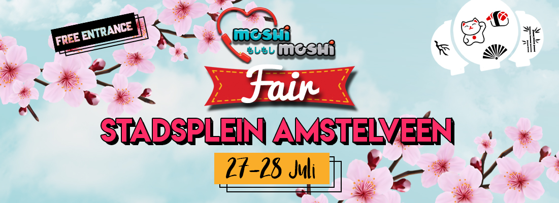 Moshi moshi fair in Amstelveen, Noord-Holland