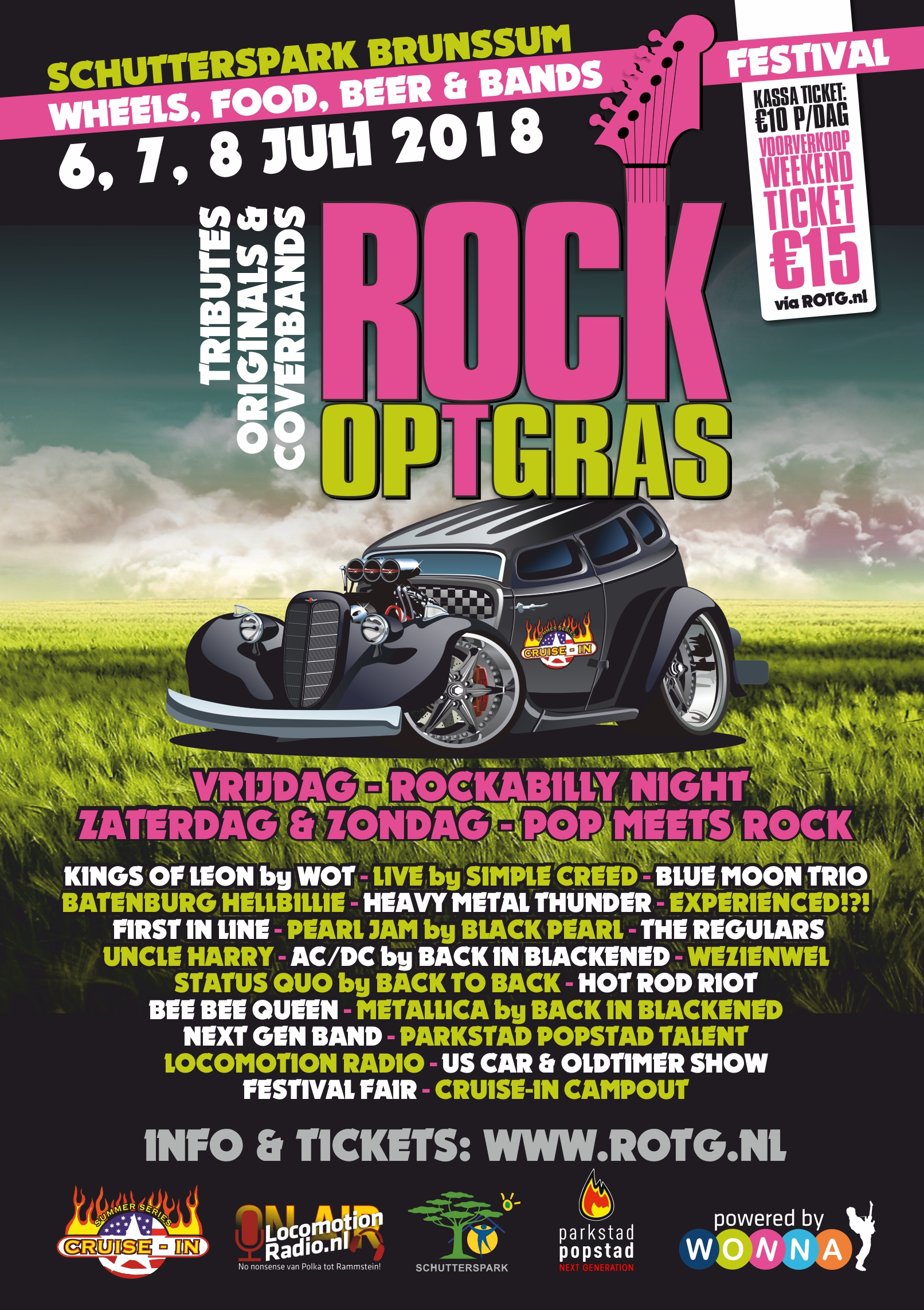 Rock op 't Gras in Brunssum, Limburg