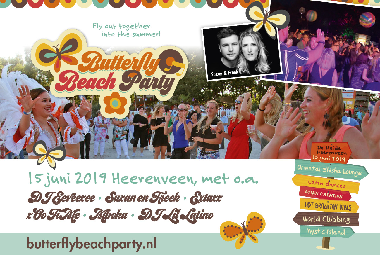 Butterfly Beach Party in Heerenveen, Friesland