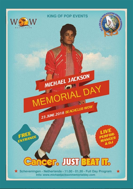 Michael jackson memorial day den haag zuid holland for Uit agenda den haag