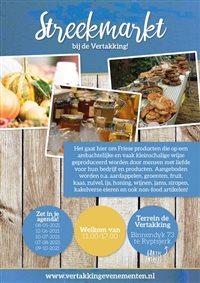 Streekmarkt bij de Vertakking in Ryptsjerk, Friesland