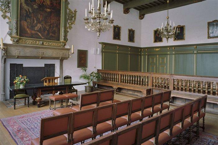 Het oude stadhuis Schepenzaal in Zwolle, Overijssel