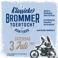 Toertocht met Klassieke Bromfietsen in Bontebok, Friesland