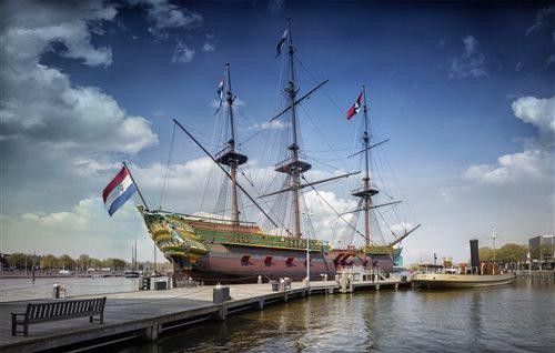 VOC-schip Amsterdam in Amsterdam, Noord-Holland