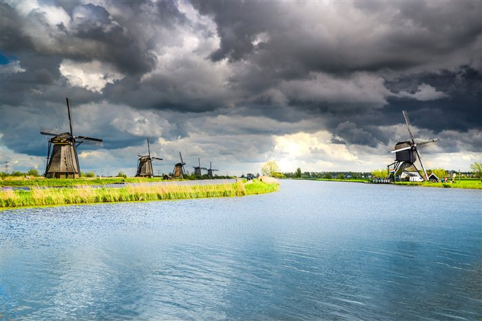 Molens van Kinderdijk in Kinderdijk, Zuid-Holland