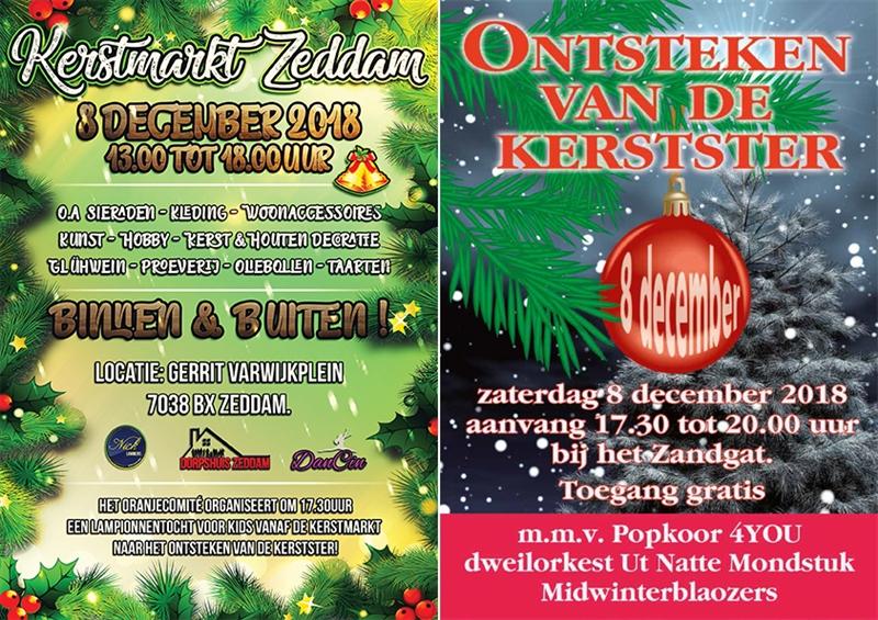 Kerstmarkt Zeddam En Ontsteken Van De Kerstster Zeddam Gelderland