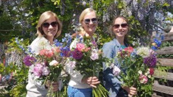 Bloemen pluk arrangement op Pluktuin Amstelveen