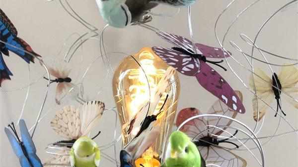 Ontwerp je eigen Tafellamp Vrolijke Vogels