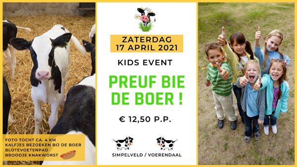 Kids-editie Preuf bie de boer