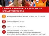 Oranje vrijmarkt en Hollandse spelletjesmiddag