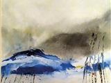 Aquarel olie en monotype van Niko van den Broek