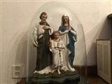 Sint Jozef en Heilige Familie in de kijkef