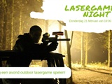 Lasergame by night
