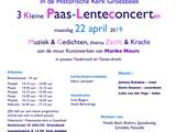 3 kleine Paas-Lente-Concerten & Gedichten