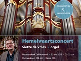Orgelconcert door Sietze de Vries in Zaltbommel