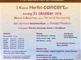 Drie kleine Herfst-Concerten met Gedichten & Kunst