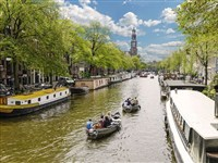Canal Motorboats in Amsterdam, Noord-Holland