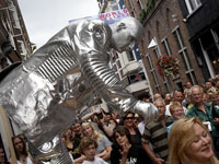 World Living Statues Festival in Alkmaar, Noord-Holland